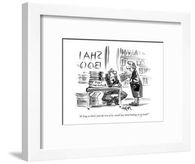 """""""As long as there's just the two of us, would you mind looking at my book?"""" - New Yorker Cartoon-Lee Lorenz-Framed Premium Giclee Print"""