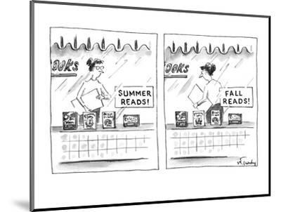 "A bookstore sign in the window ""Summer Reads!"" promoting four books below.? - New Yorker Cartoon-Mike Twohy-Mounted Premium Giclee Print"