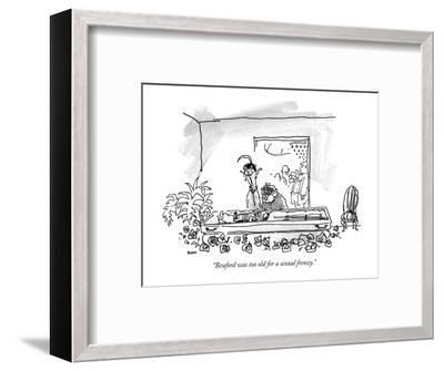 """""""Beuford was too old for a sexual frenzy."""" - New Yorker Cartoon-George Booth-Framed Premium Giclee Print"""