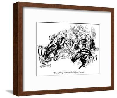 """Everything tastes so divinely artisanal."" - New Yorker Cartoon-William Hamilton-Framed Premium Giclee Print"