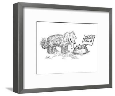 Dog food bowl is Zagat rated. - New Yorker Cartoon-Edward Koren-Framed Premium Giclee Print