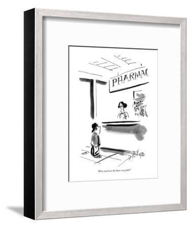 """How much are the home-run pills?"" - New Yorker Cartoon-Donald Reilly-Framed Premium Giclee Print"