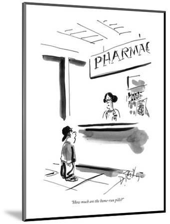 """""""How much are the home-run pills?"""" - New Yorker Cartoon-Donald Reilly-Mounted Premium Giclee Print"""