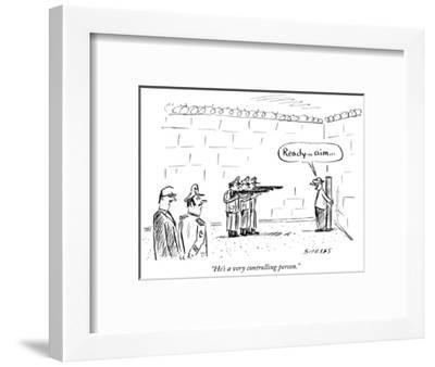 """He's a very controlling person."" - New Yorker Cartoon-David Sipress-Framed Premium Giclee Print"