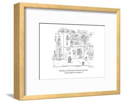 """""""Someday we'll look back at this time in our lives and be unable to rememb?"""" - New Yorker Cartoon-Michael Maslin-Framed Premium Giclee Print"""