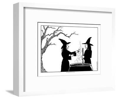 """""""Does this poison smell weird to you?"""" - New Yorker Cartoon-Alex Gregory-Framed Premium Giclee Print"""