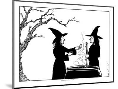 """""""Does this poison smell weird to you?"""" - New Yorker Cartoon-Alex Gregory-Mounted Premium Giclee Print"""