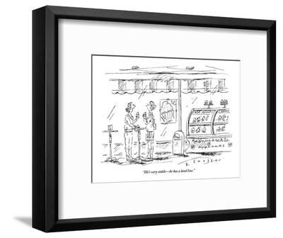 """""""He's very stable?he has a land line."""" - New Yorker Cartoon-Barbara Smaller-Framed Premium Giclee Print"""