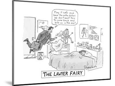 """The Lawyer Fairy"" - New Yorker Cartoon-Danny Shanahan-Mounted Premium Giclee Print"