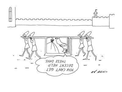 """""""You can't get decent help these days."""" - New Yorker Cartoon-Ed Arno-Framed Premium Giclee Print"""