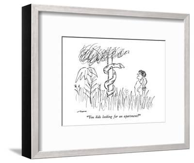 """""""You kids looking for an apartment?"""" - New Yorker Cartoon-Al Ross-Framed Premium Giclee Print"""