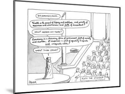 Plato The Standup - New Yorker Cartoon-Jack Ziegler-Mounted Premium Giclee Print