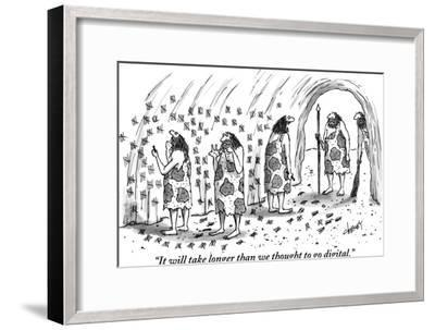 """""""It will take longer than we thought to go digital."""" - New Yorker Cartoon-Tom Cheney-Framed Premium Giclee Print"""