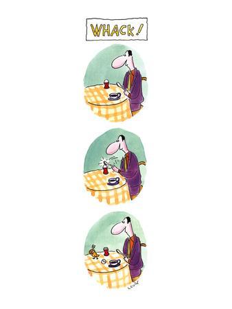 WHACK! - New Yorker Cartoon-Arnie Levin-Framed Premium Giclee Print