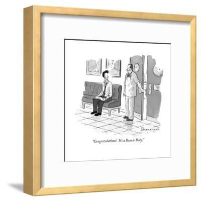 """Congratulations!  It's a Beanie Baby."" - New Yorker Cartoon-Danny Shanahan-Framed Premium Giclee Print"
