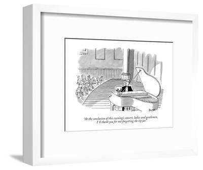 """At the conclusion of this evening's concert, ladies and gentlemen, I'll t?"" - New Yorker Cartoon-Jack Ziegler-Framed Premium Giclee Print"