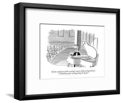 """""""At the conclusion of this evening's concert, ladies and gentlemen, I'll t?"""" - New Yorker Cartoon-Jack Ziegler-Framed Premium Giclee Print"""