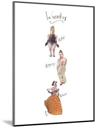 """Three rather burly men in drag, labeled, respectively, """"RuPhil"""", """"RuMurray? - New Yorker Cartoon-Barry Blitt-Mounted Premium Giclee Print"""