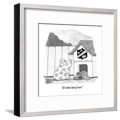 """It's their idea of cute."" - New Yorker Cartoon-Gahan Wilson-Framed Premium Giclee Print"