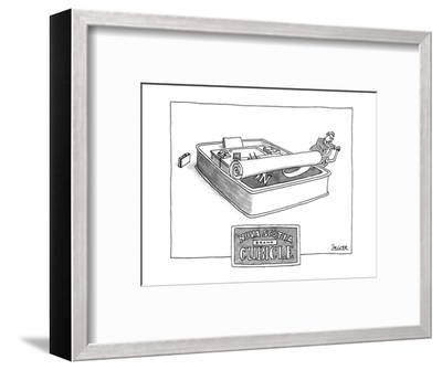 NOVA SCOTIA BRAND CUBICLE - New Yorker Cartoon-Jack Ziegler-Framed Premium Giclee Print