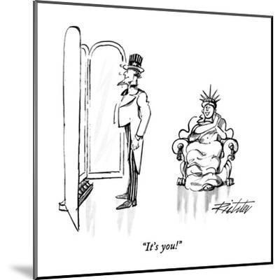 """It's you!"" - New Yorker Cartoon-Mischa Richter-Mounted Premium Giclee Print"