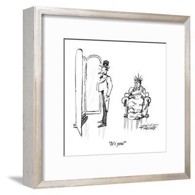 """It's you!"" - New Yorker Cartoon-Mischa Richter-Framed Premium Giclee Print"