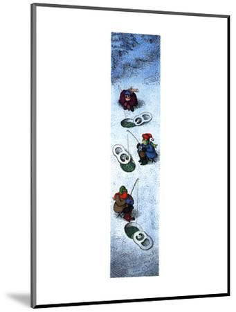 People ice fishing. - New Yorker Cartoon-John O'brien-Mounted Premium Giclee Print
