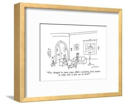"""I've changed in many ways, Adele—switching from leather to crêpe soles is…-Michael Maslin-Framed Premium Giclee Print"