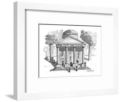 Rhode Island School of Desire - New Yorker Cartoon-Michael Crawford-Framed Premium Giclee Print