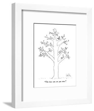 """""""The boss can see you now."""" - New Yorker Cartoon-Arnie Levin-Framed Premium Giclee Print"""