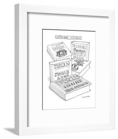 Coffee-Table Kid's Books - New Yorker Cartoon-Michael Crawford-Framed Premium Giclee Print