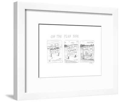 On The Plus Side - New Yorker Cartoon-Roz Chast-Framed Premium Giclee Print