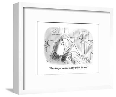"""""""Now that you mention it, they do look like ants."""" - New Yorker Cartoon-Arnie Levin-Framed Premium Giclee Print"""