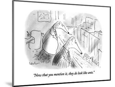 """""""Now that you mention it, they do look like ants."""" - New Yorker Cartoon-Arnie Levin-Mounted Premium Giclee Print"""
