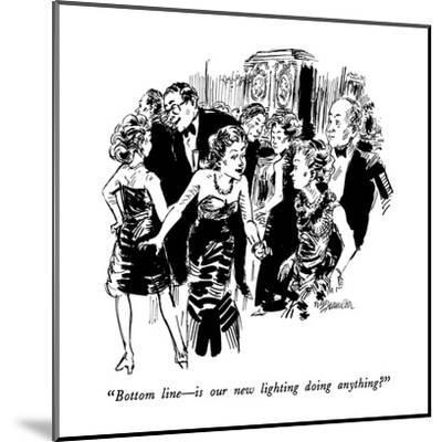 """""""Bottom line?is our new lighting doing anything?"""" - New Yorker Cartoon-William Hamilton-Mounted Premium Giclee Print"""