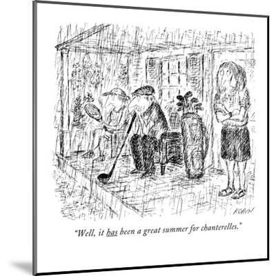 """""""Well, it has been a great summer for chanterelles."""" - New Yorker Cartoon-Edward Koren-Mounted Premium Giclee Print"""