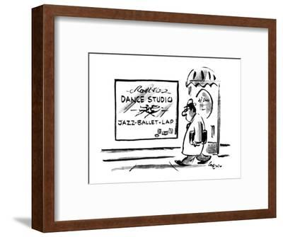 Sign on Dance stuio lists 'Jazz-Ballet-Lap' as what is taught. - New Yorker Cartoon-Lee Lorenz-Framed Premium Giclee Print
