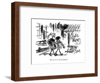 """""""He's not even in my type universe."""" - New Yorker Cartoon-Donald Reilly-Framed Premium Giclee Print"""