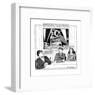 Approaching The Millennium - New Yorker Cartoon-Stuart Leeds-Framed Premium Giclee Print