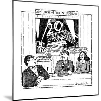 Approaching The Millennium - New Yorker Cartoon-Stuart Leeds-Mounted Premium Giclee Print