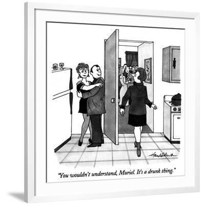 """You wouldn't understand, Muriel.  It's a drunk thing."" - New Yorker Cartoon-J.B. Handelsman-Framed Premium Giclee Print"