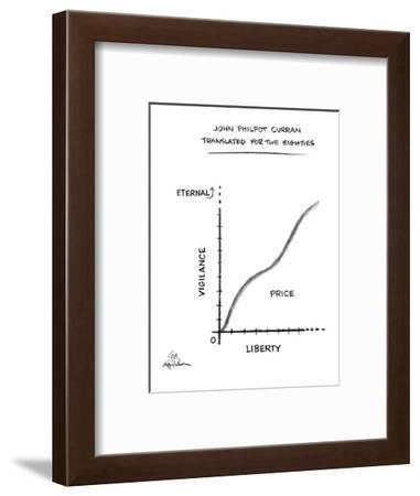 John Philpot Curran Translated For The Eighties - New Yorker Cartoon-Ed Fisher-Framed Premium Giclee Print