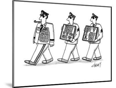 Men walking after general with this extra medals. - New Yorker Cartoon-Tom Cheney-Mounted Premium Giclee Print