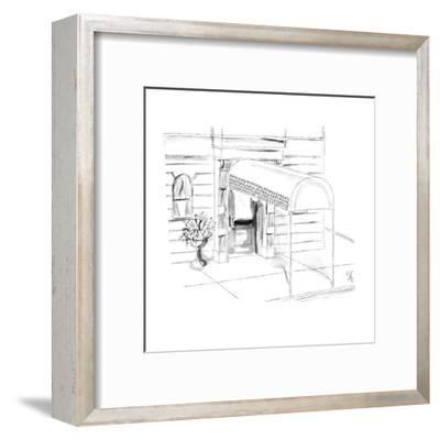 "Awning reads ""Patrick & Winifred, Arnold & Peggy, Henry & Claudia, Oliver ? - New Yorker Cartoon-Everett Opie-Framed Premium Giclee Print"