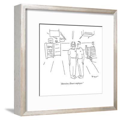 """Attention, Kmart employees."" - New Yorker Cartoon-Michael Shaw-Framed Premium Giclee Print"