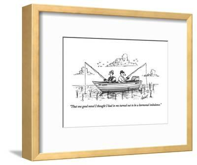 """""""That one good novel I thought I had in me turned out to be a hormonal imb?"""" - New Yorker Cartoon-Tom Cheney-Framed Premium Giclee Print"""