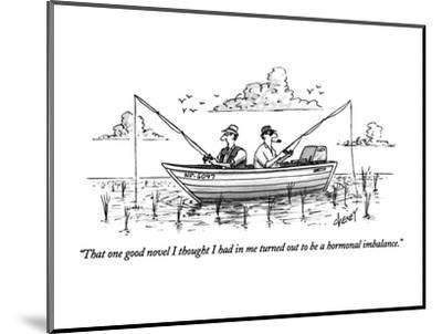 """""""That one good novel I thought I had in me turned out to be a hormonal imb?"""" - New Yorker Cartoon-Tom Cheney-Mounted Premium Giclee Print"""