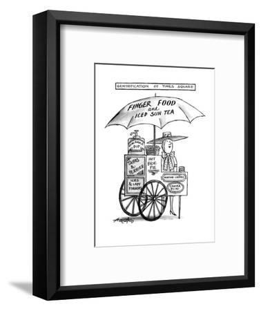 Gentrification of Times Square. - New Yorker Cartoon-Henry Martin-Framed Premium Giclee Print