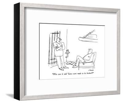 """""""Who was it said 'Laws were made to be broken'?"""" - New Yorker Cartoon-Al Ross-Framed Premium Giclee Print"""