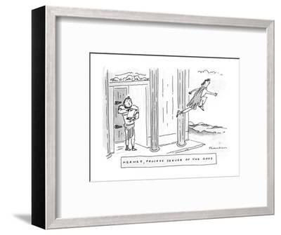 Hermes, Process Server Of The Gods - New Yorker Cartoon-Danny Shanahan-Framed Premium Giclee Print